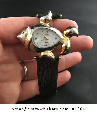 Beautiful Fish Clock Face Xanadu Wrist Watch #0qJ1jfQYy5U