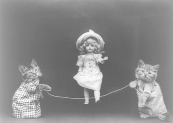 Cats Playing Jump Rope with Doll #lgmBQJwWKks