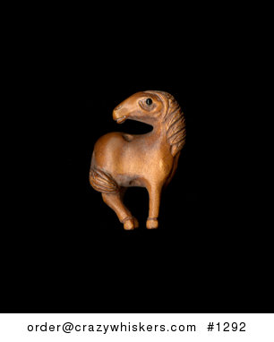 Cute Horse or Pony Looking Back Ojime Bead Pendant Hand Carved Boxwood Signed by Carver #F3CddsQAJ7k