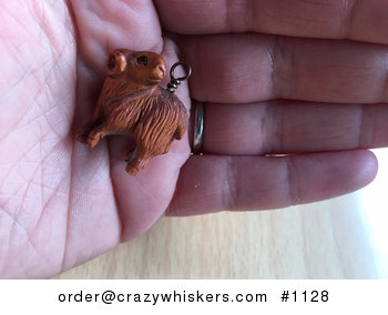 Cute Ram Ojime Bead Pendant Hand Carved Boxwood Signed by Carver #Swg34Ja7g48