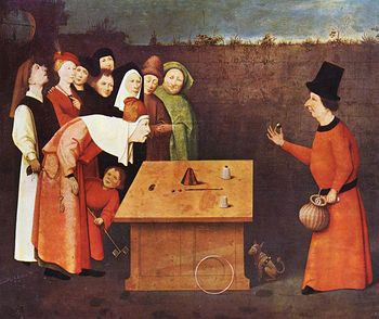 Digital Image of a Magician Performing a Magic Trick the Conjurer by Jheronimus Bosch #mUZJk7gJzYc