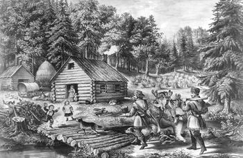 Digital Image of a Pioneer Log Cabin #9gwMIXW41YY