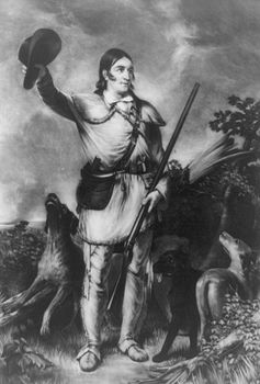 Digital Image of Dogs and Colonel David Crockett #tVbkqKy8QEg