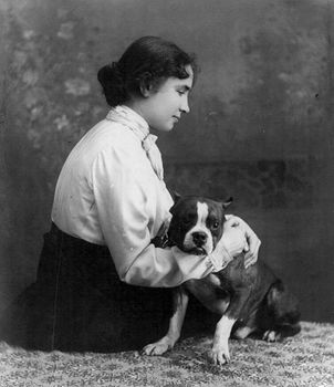 Digital Photo of Helen Keller with a Dog #BFjRi2N7Vvo