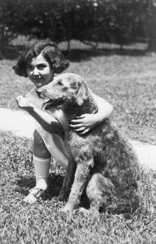 Digital Photo of President Hardings Dog Laddie Boy and Child Actress Mariana Batista #FrtmJjNIs6Q