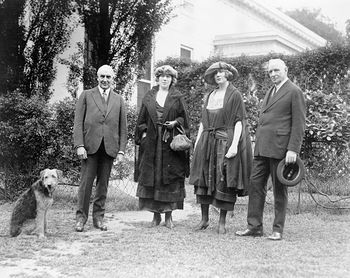 Digital Photo of President Warren Harding and His Pet Dog Laddie Boy in the Yard at the White House with 34pop34 Anson and His Daughters #8GKG2JZeWgM