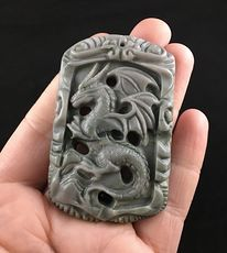 Dragon Carved Ribbon Jasper Pendant Jewelry #uK0xx4HGUbI
