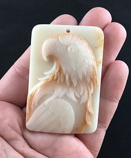 Eagle Carved Malachite Stone Pendant Jewelry #S2BanH9bGgY