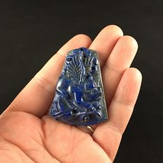 Flying Pig Carved Lapis Lazuli Stone Pendant Jewelry #sAC9iOS2jrw