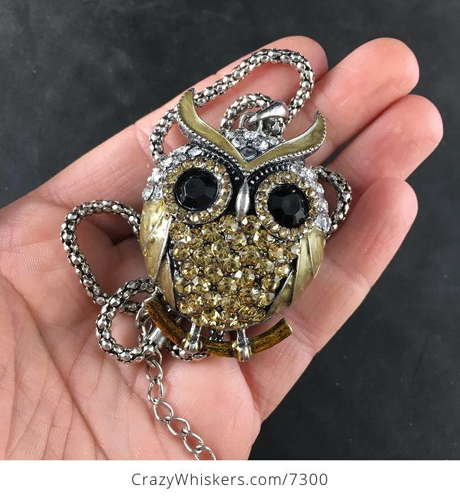 Golden Owl Jewelry Necklace Pendant - #izQIllSrcWc-1