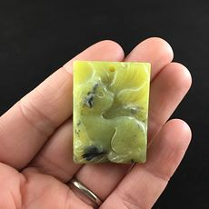 Kitty Cat Carved Lemon Jade Stone Pendant Jewelry #nsYxiDjRwM0