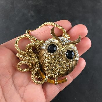 Metallic Brown Owl Jewelry Necklace Pendant #rDNXFw2kGZU