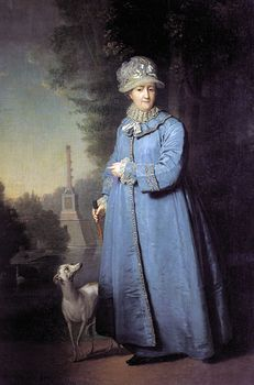 Painting of Queen Catherine the Great and Her Whippet Dog in the Garden of Tsarskoye Selo #crtzpHHxvUY