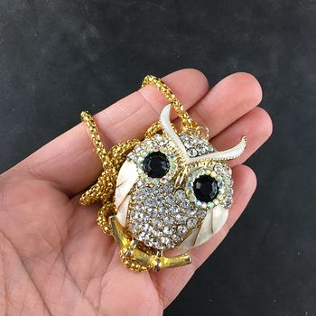 Pearlescent Owl Jewelry Necklace Pendant #wtgLvpb9KUs
