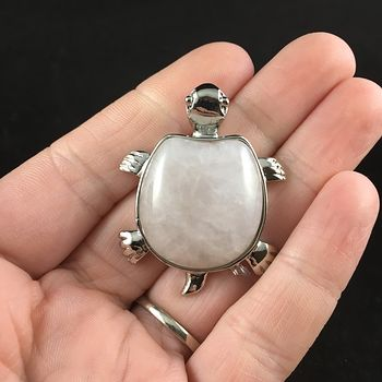 Rose Quartz Stone Turtle Pendant Jewelry #1ty0Mo6rTzw