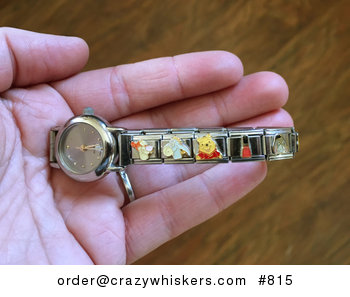 Stainless Steel Link Bracelet Watch with Disney Characters and Other Charms #Wp9BfPQdKJU