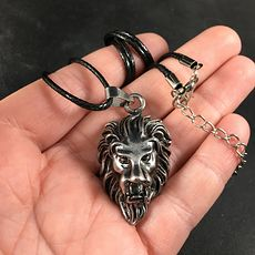 Unisex Stainless Steel Angry Lion Head Pendant Necklace #EQa9mWdedjE