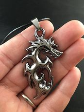 Unisex Stainless Steel Tribal Dragon Pendant #Qe0WlPuXSMI
