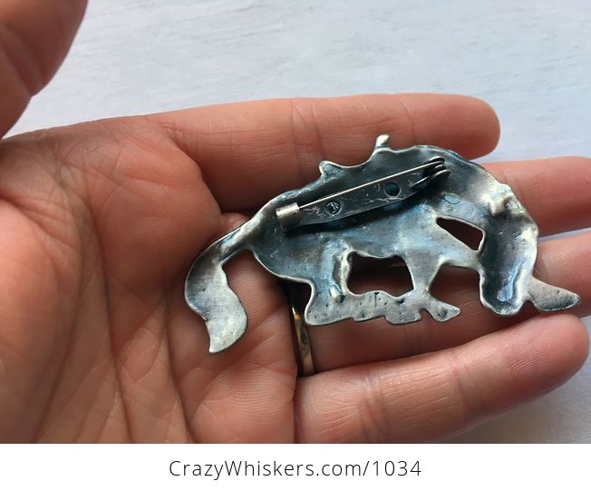 Vintage Bucking Bronco Rodeo Horse Brooch in Silver Tone - #wj3dArCMAlY-2