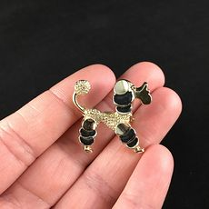 Vintage Gerrys Poodle Dog Brooch Pin with Black Tufts #uSf6ElIV5TY