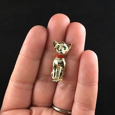 Vintage Gold Toned Kitty Cat Jewelry Brooch Pin #Vbz56aAVSI8