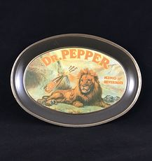 Vintage Metal Dr Pepper Lion Tray #KyooK9rVKc8