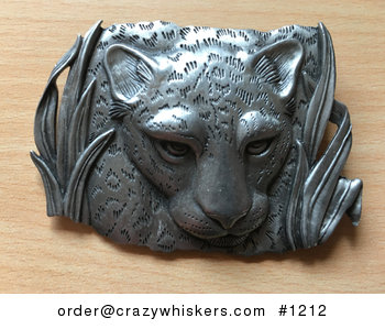 Vintage Pewter Leopard or Cheetah Big Cat Brooch by Jj 1986 #t3cqmLwDuZk